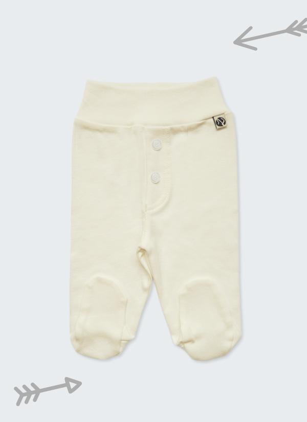 Бебешки ританки, цвят екрю,с шлиц и копчета като панталон, 0-6 месеца, Zinc