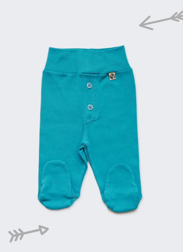 Бебешки ританки, петрол, с шлиц и копчета като панталон, 0-6 месеца, Zinc