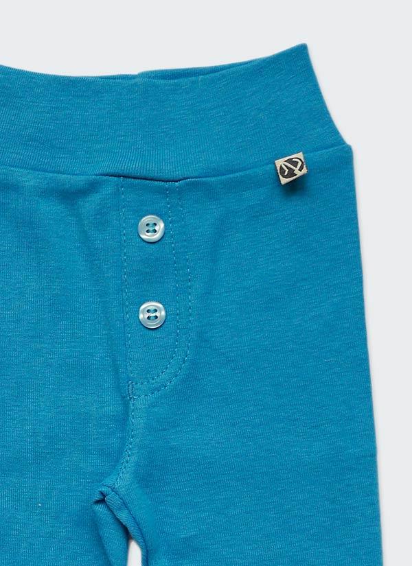 Бебешки ританки, тъмен тюркоаз, с шлиц и копчета като панталон, 0-6 месеца, Zinc, отблизо