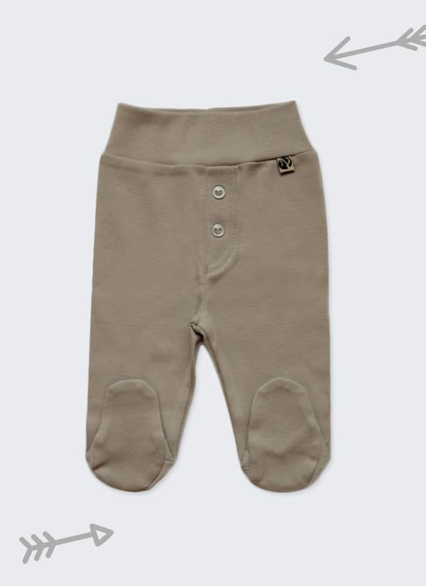 Бебешки ританки, тъмно сив цвят,с шлиц и копчета като панталон, 0-6 месеца, Zinc