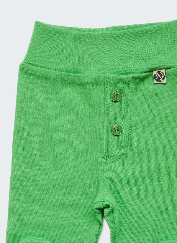 Бебешки ританки, зелен цвят,с шлиц и копчета като панталон, 0-6 месеца, Zinc, отблизо