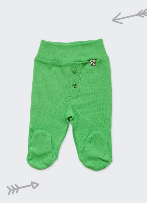 Бебешки ританки, зелен цвят,с шлиц и копчета като панталон, 0-6 месеца, Zinc