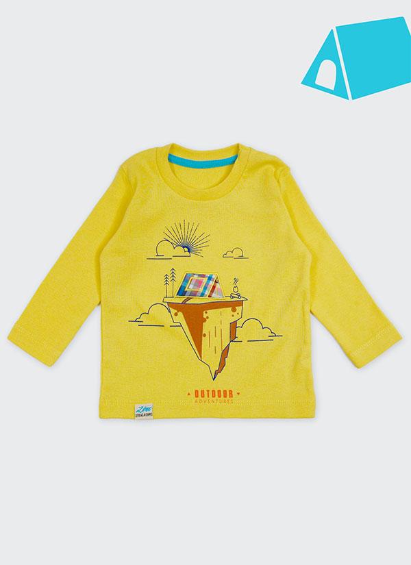 ZINC Блуза с палатка - за момчета, патешко жълт, в размери от 6 месеца до 2 години -1