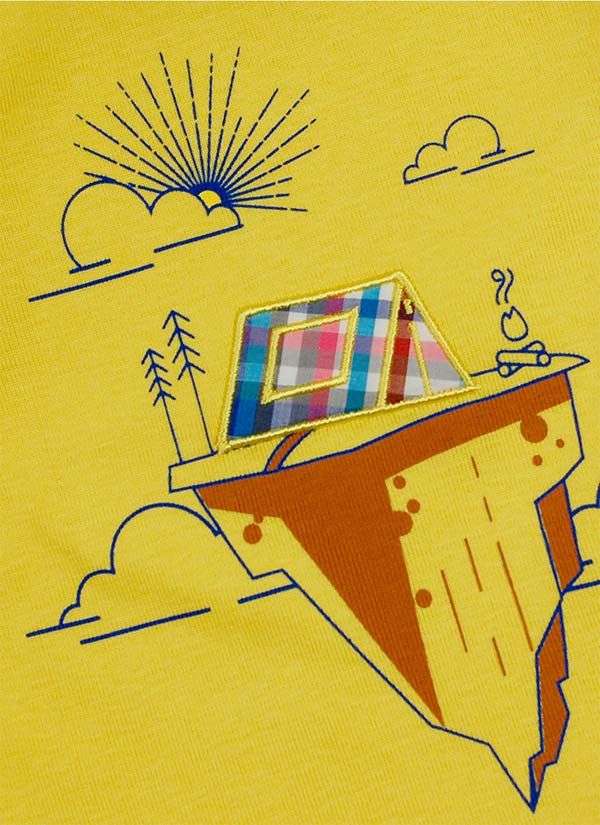 ZINC Блуза с палатка - за момчета, патешко жълт, в размери от 6 месеца до 2 години -2