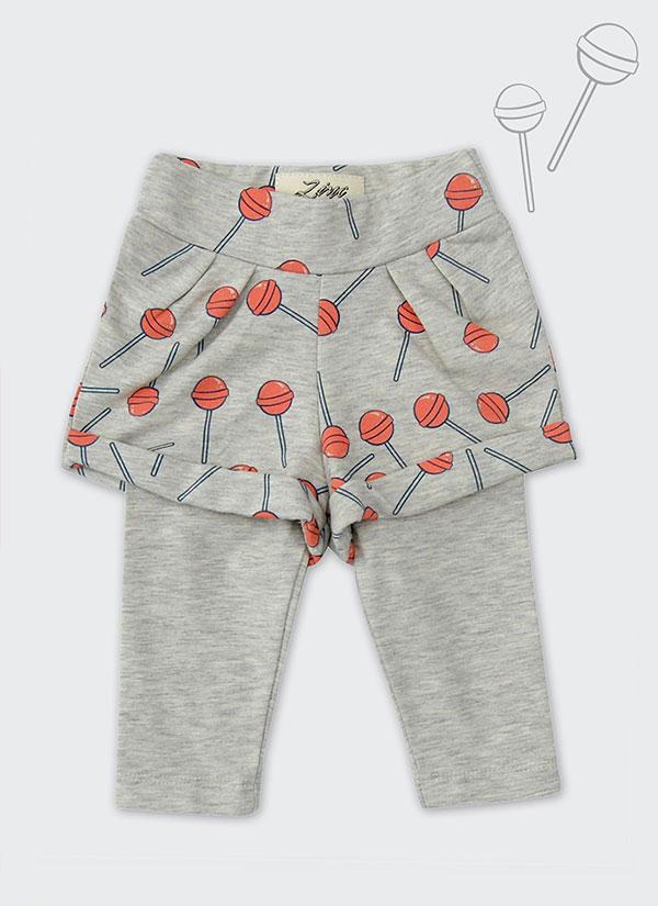 ZINC Къс панталон с клин - за момичета, бежов, в размери от 6 месеца до 2 години -1