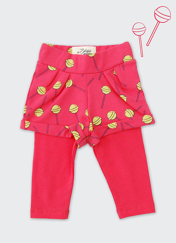 ZINC Къс панталон с клин - за момичета, диня, в размери от 6 месеца до 2 години -1
