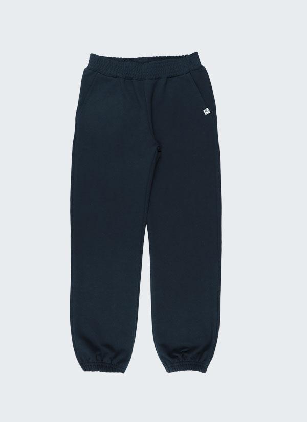 Долнище с ластик - изчистен модел с италиански джобове, с ластик на колана и долу на крачолите в тъмно син цвят. Момичета 2 - 12 години, Zinc