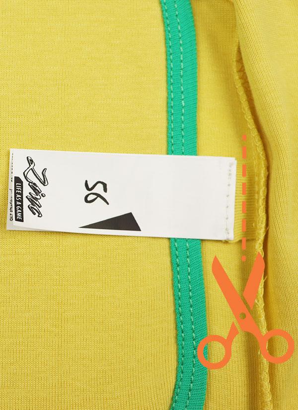 К-т боди кимоно с къс ръкав и ританки - боди в жълт цвят и ританки в зелен цвят,Етикет Бебета 0 - 6 месеца, Zinc