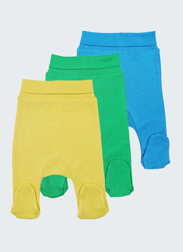Ританки - 3 бр. в комплект -класически модел. Цветовете на ританките в комплекта са жълт, син и зелен, Бебета 0 - 6 месеца, Zinc